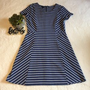 Talbots Blue Striped Dress